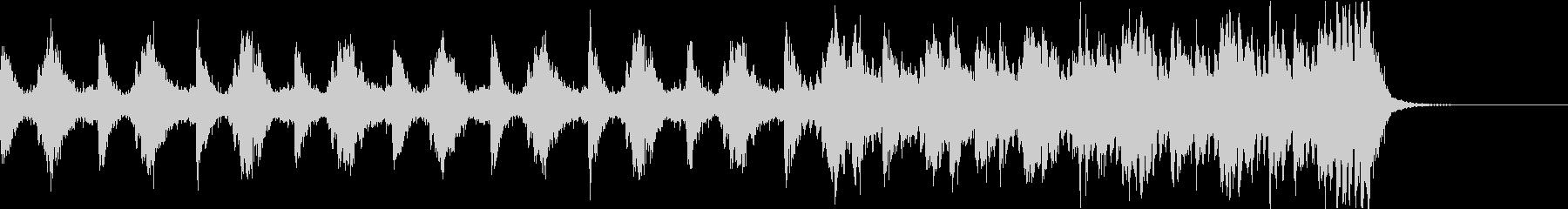 緊張感のあるストリングス系BGMの未再生の波形