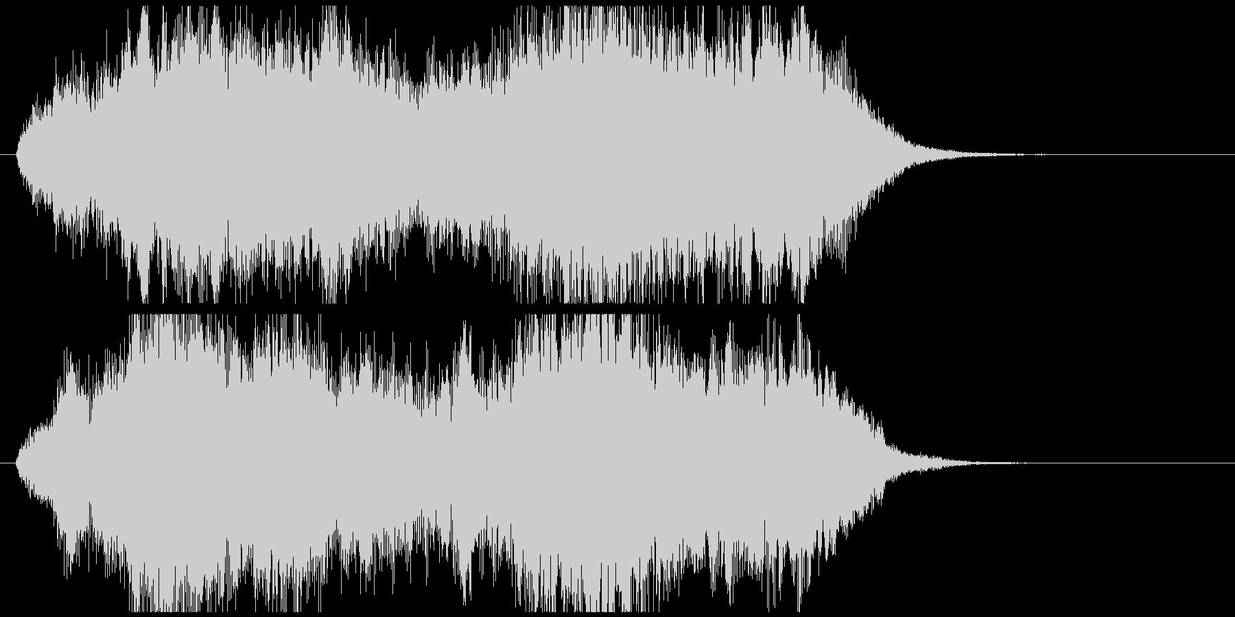 感動系のオーケストラジングルの未再生の波形