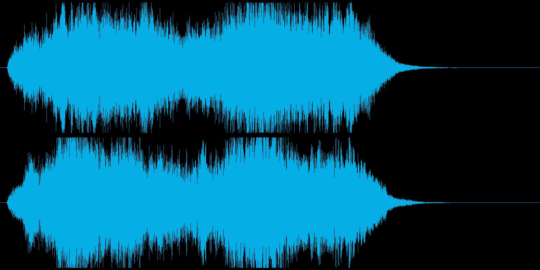 感動系のオーケストラジングルの再生済みの波形