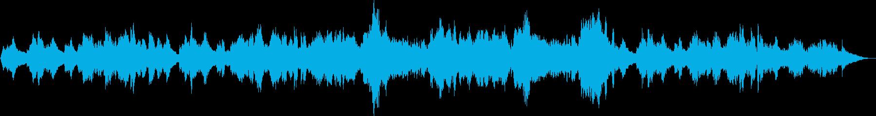 平和なイメージのバイオリン曲の再生済みの波形