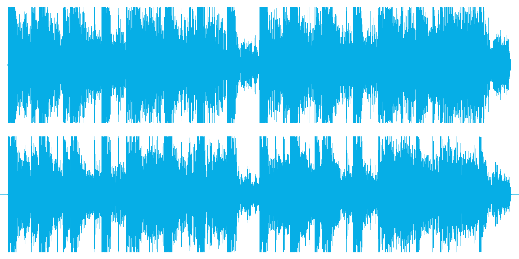 Colorful refreshing and cute exciting jingle's reproduced waveform
