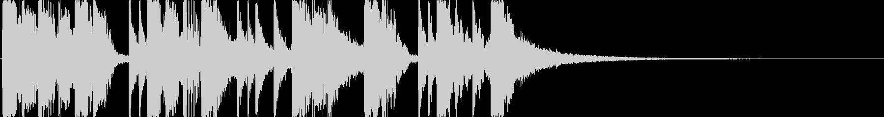 ベースとドラムのジングル・サウンドロゴの未再生の波形