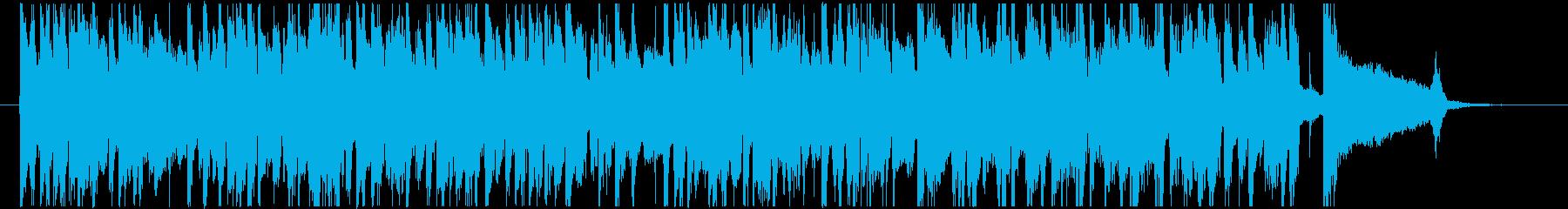 レトロなアコースティックギターBGMの再生済みの波形
