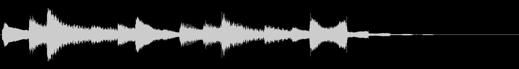 ピアノソロなファンファーレの未再生の波形