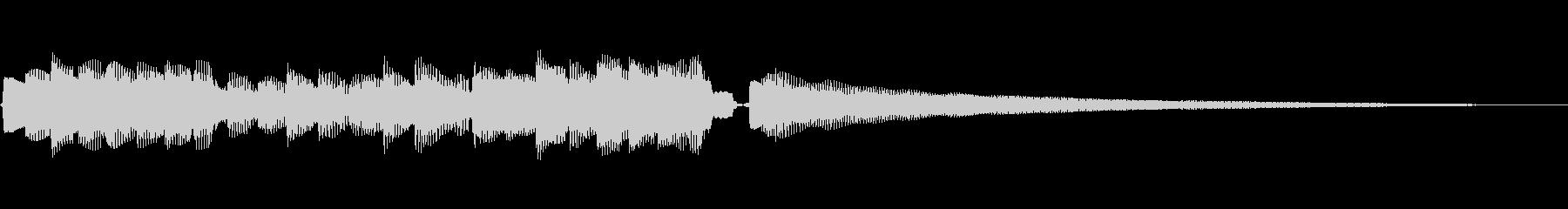 幻想的な響きの音の未再生の波形