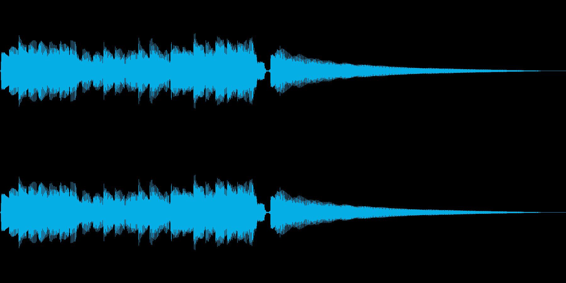 幻想的な響きの音の再生済みの波形