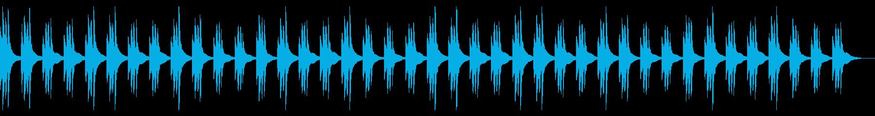 ミステリーな雰囲気のBGMの再生済みの波形