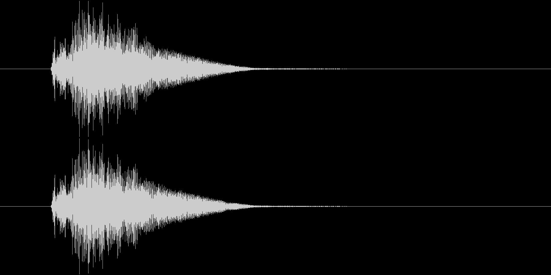 近未来的な扉が開く音の未再生の波形