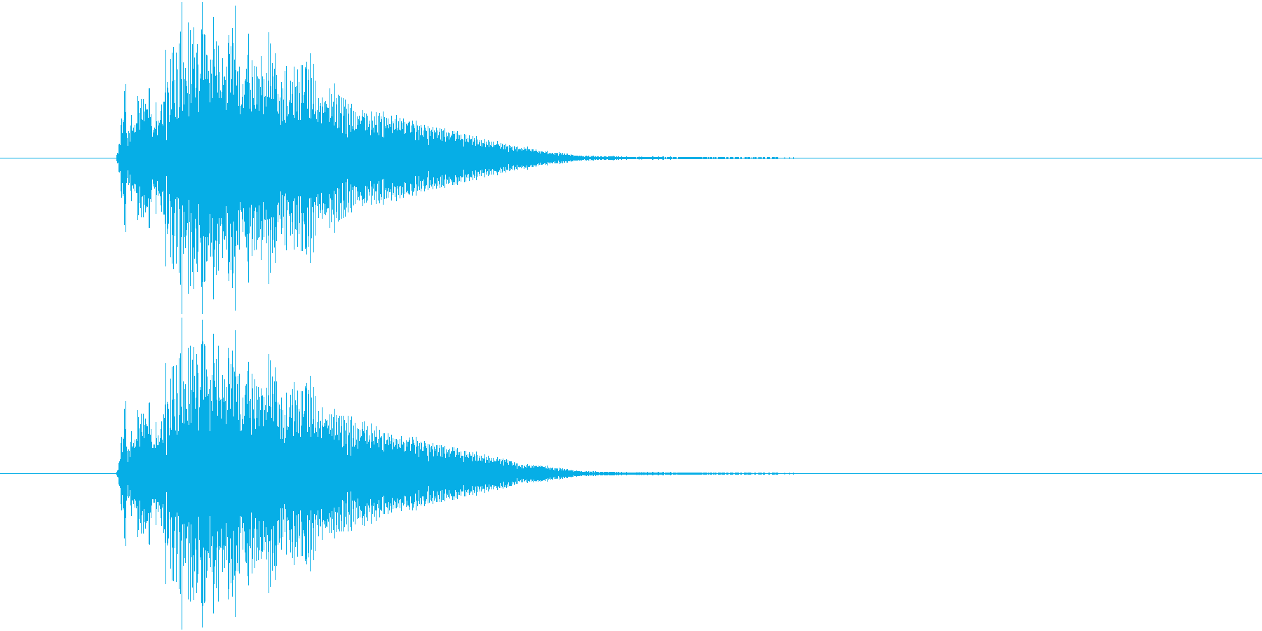 近未来的な扉が開く音の再生済みの波形