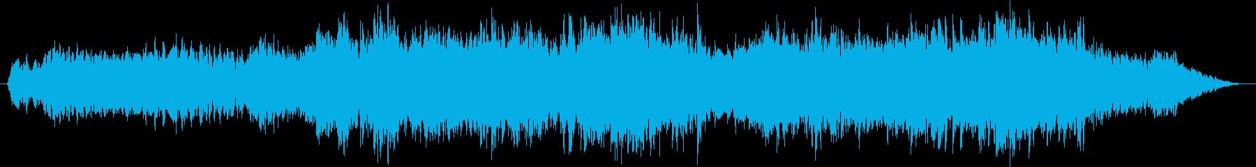 ヒーリング、幻想的なアンビエントピアノ曲の再生済みの波形
