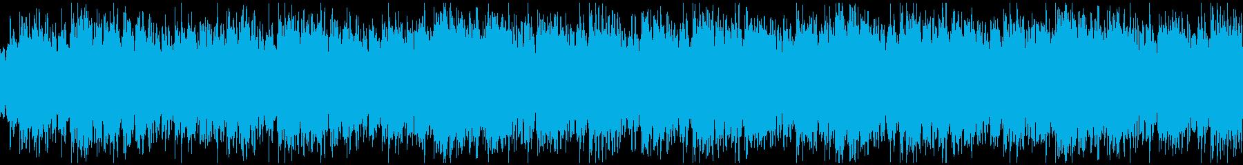 アンビエント系BGMの再生済みの波形