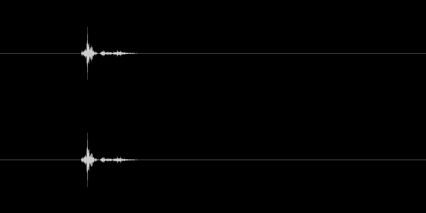 ビシャビシャ押しつぶすの未再生の波形