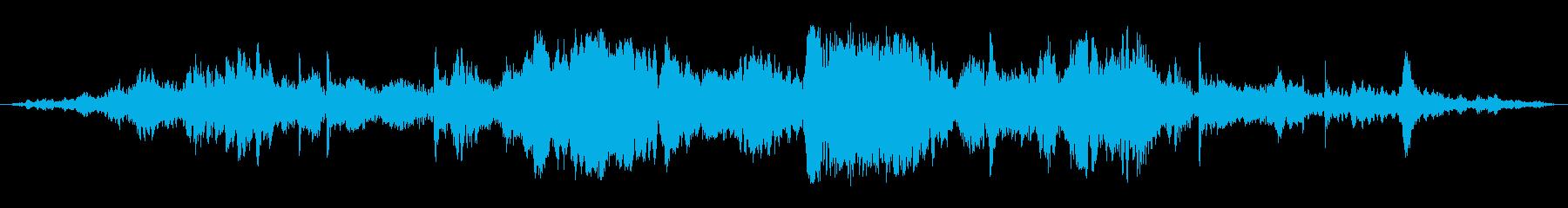 長い抽象的な上昇と下降の再生済みの波形