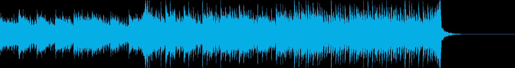 軽快だけど少し切ないシンセの曲の再生済みの波形