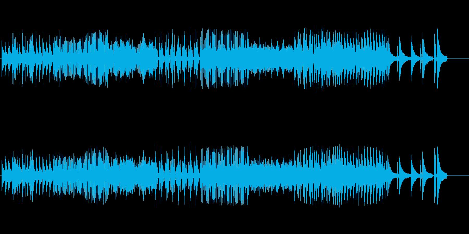 ラスボス感のある激しめのピアノ楽曲の再生済みの波形