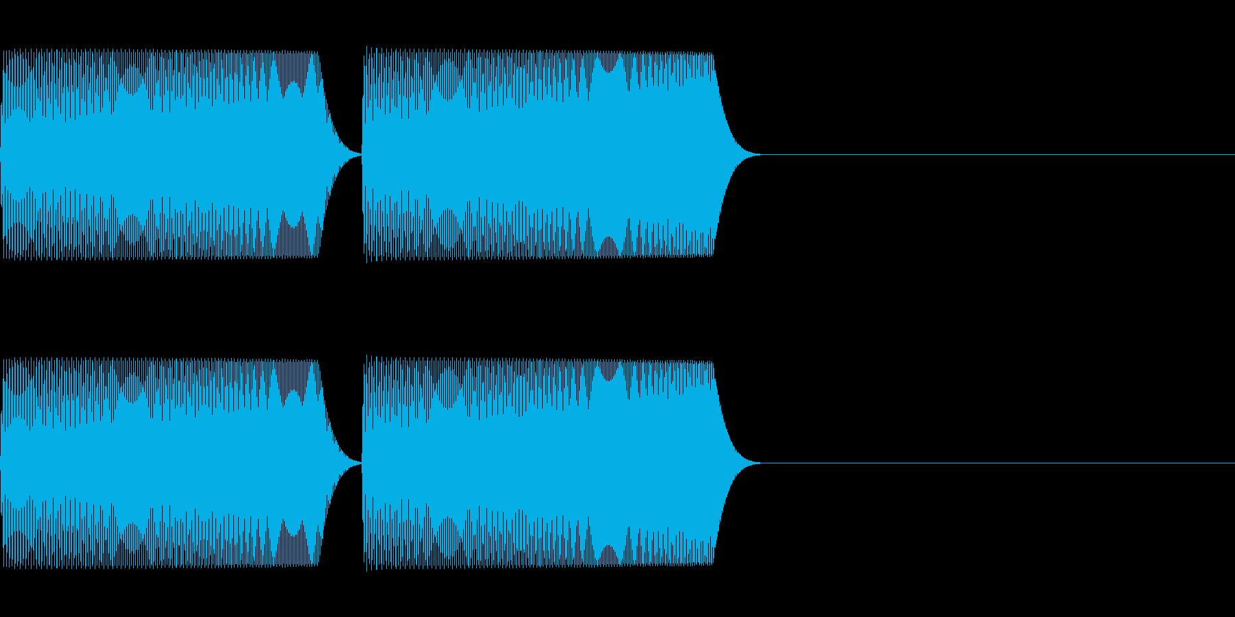 アイテム取得・ジャンプ等 「ぽわぽわ」の再生済みの波形