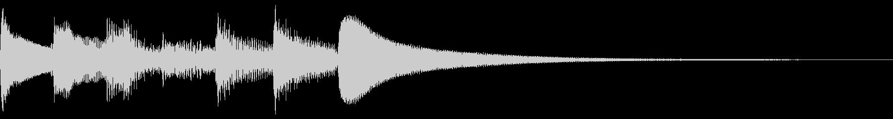自然 アルペジオ ナイロンギターの未再生の波形