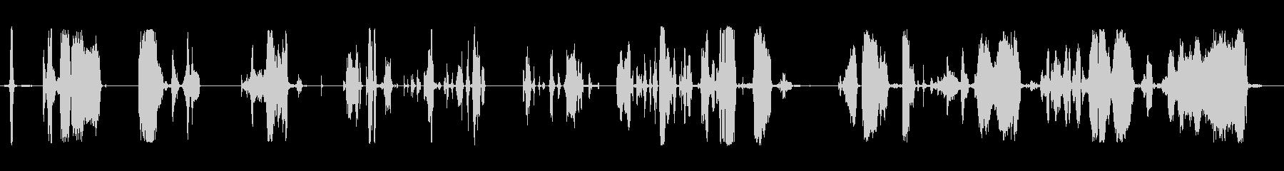 さまざまな金属の厳しいきしみ音の未再生の波形