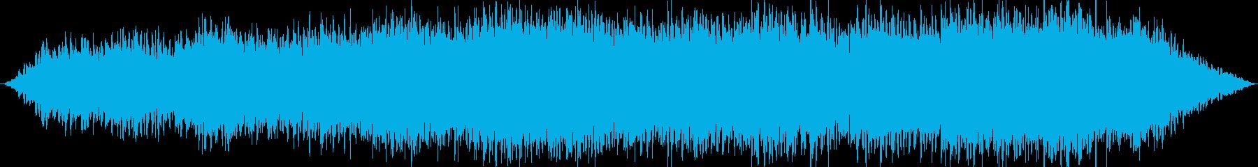 眠りを誘うゆったりとした曲の再生済みの波形