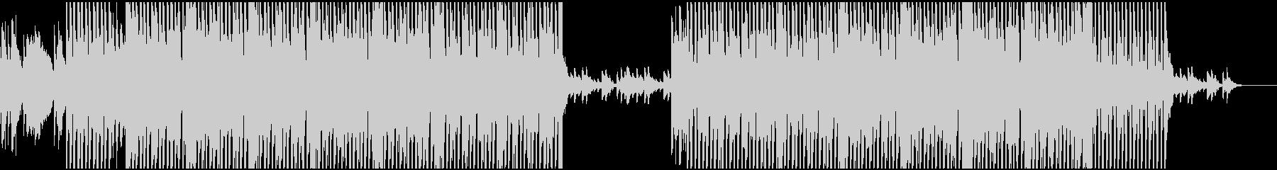 弾くベースとピアノのBGM(テクノ)の未再生の波形