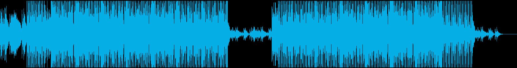 弾くベースとピアノのBGM(テクノ)の再生済みの波形