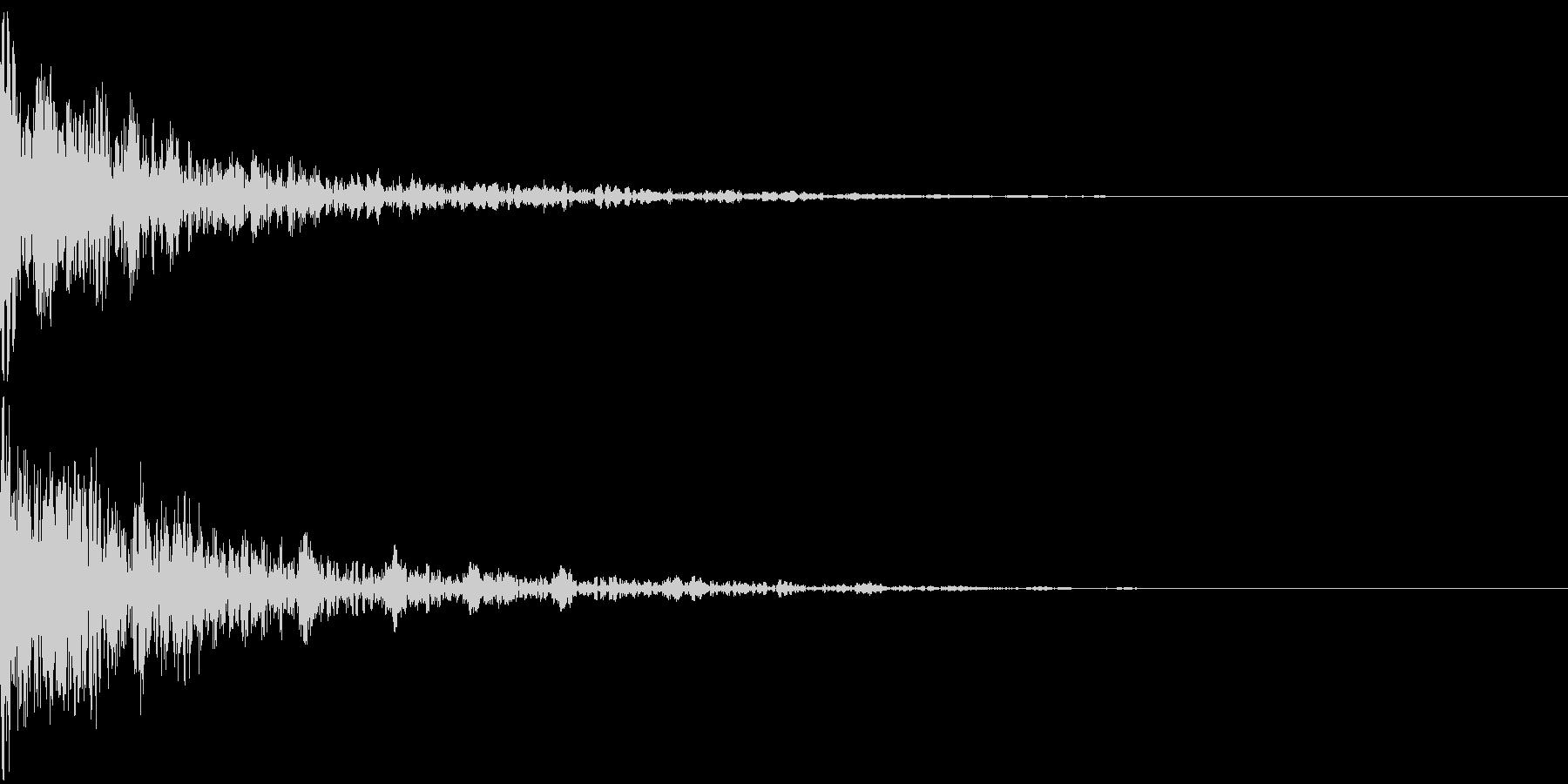 ドーン-24-2(インパクト音)の未再生の波形