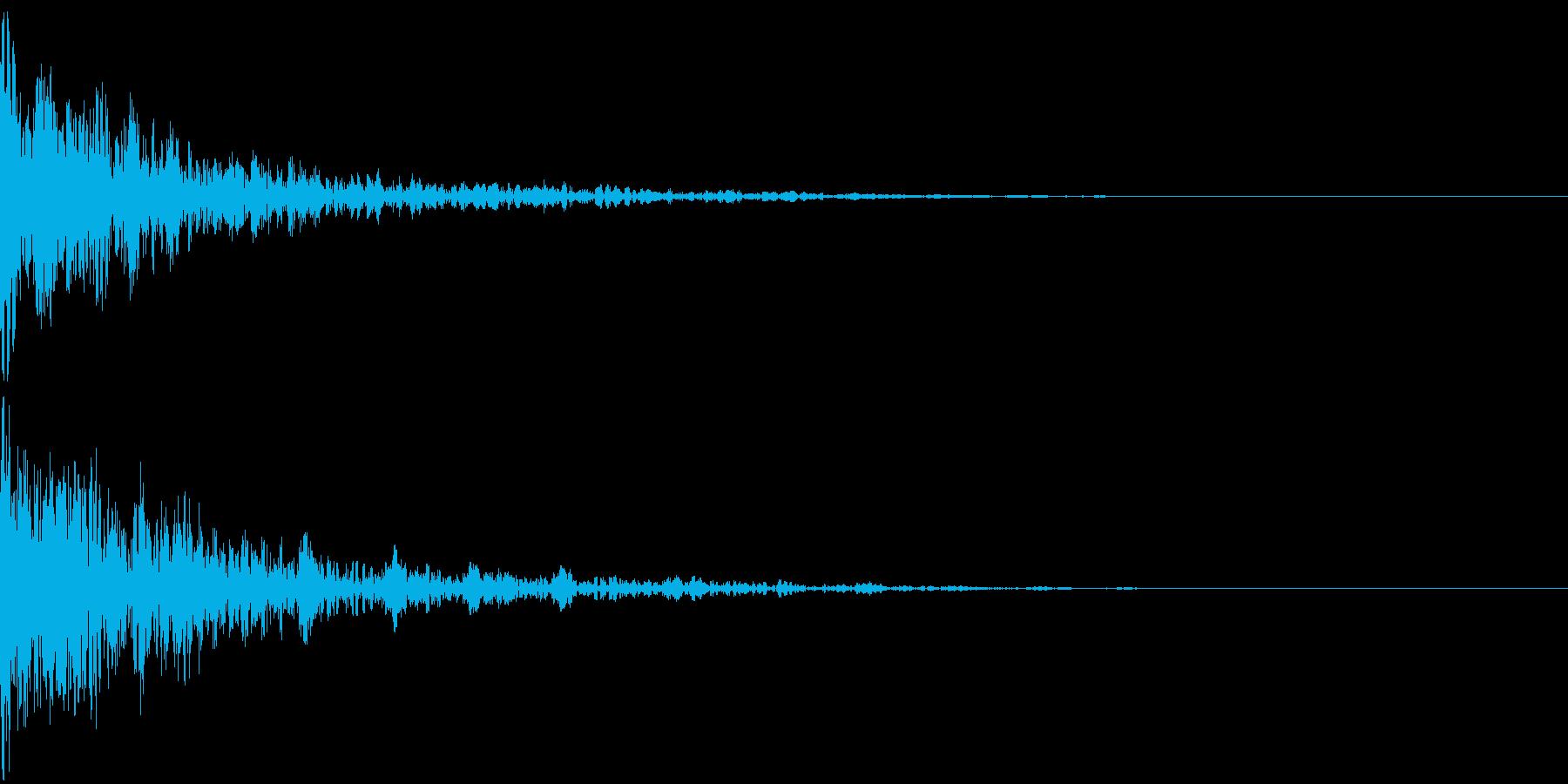 ドーン-24-2(インパクト音)の再生済みの波形