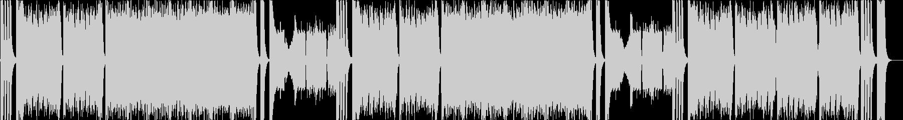 ハプニングやドタバタシーンのコミカル曲bの未再生の波形