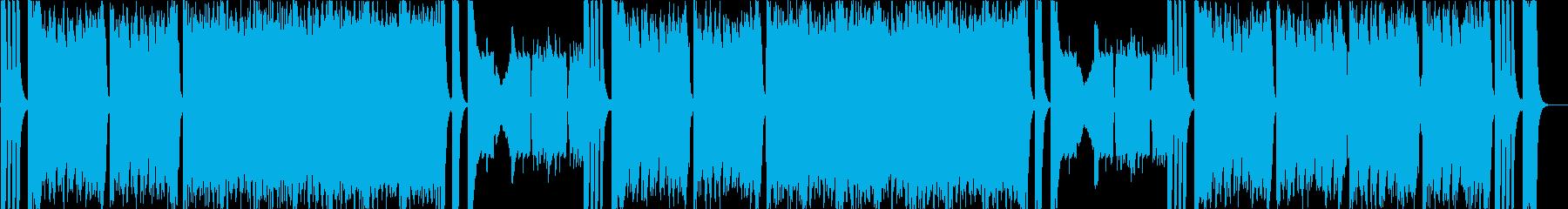 ハプニングやドタバタシーンのコミカル曲bの再生済みの波形