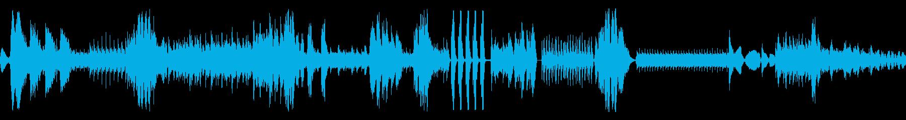 奇抜なデバイスビープ音/高速;音楽...の再生済みの波形