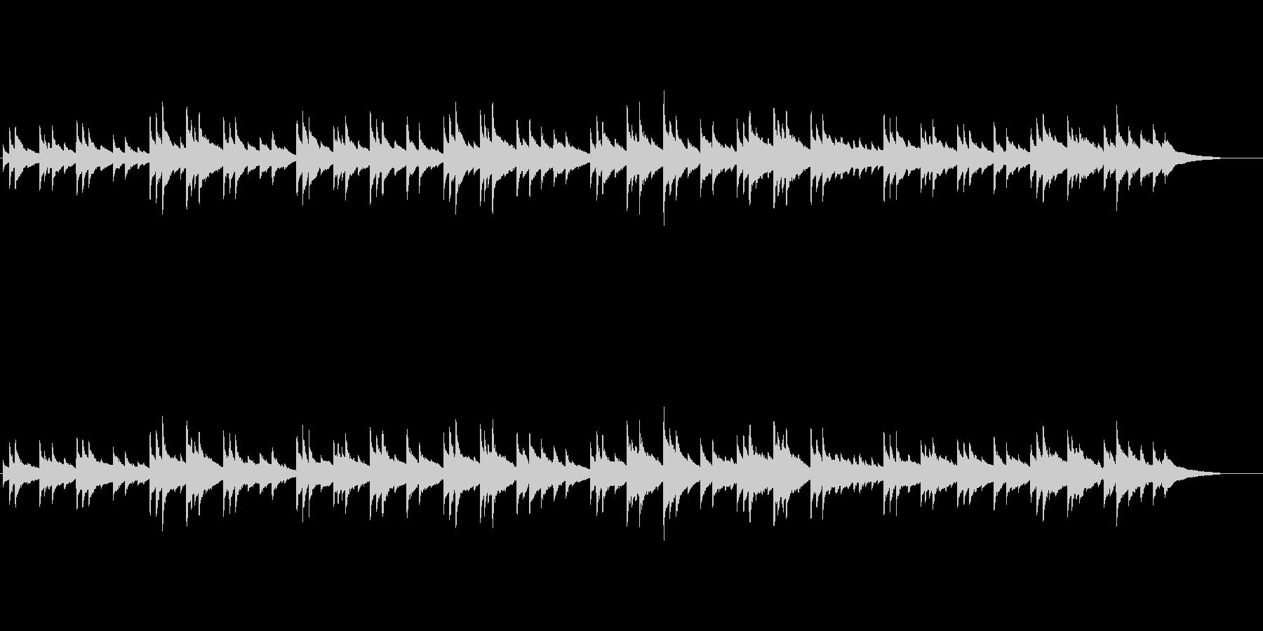 有名なアメージンググレース。オルゴール風の未再生の波形