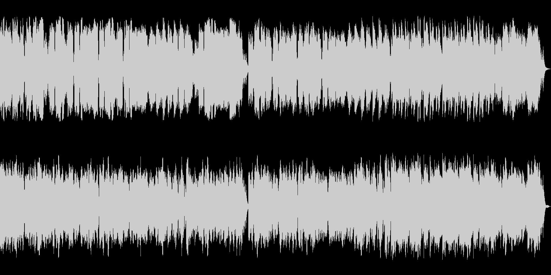 ピアノ管楽器による優しいメロディアス楽曲の未再生の波形