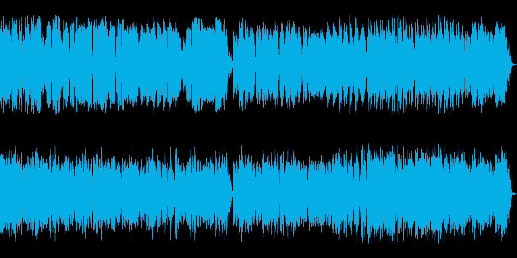ピアノ管楽器による優しいメロディアス楽曲の再生済みの波形
