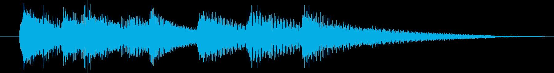 ピアノ演奏/CM前、爽やかな微風ジングルの再生済みの波形