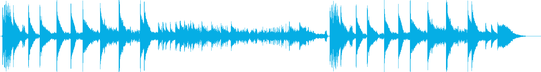 変拍子のおしゃれ系エレクトロニカの再生済みの波形