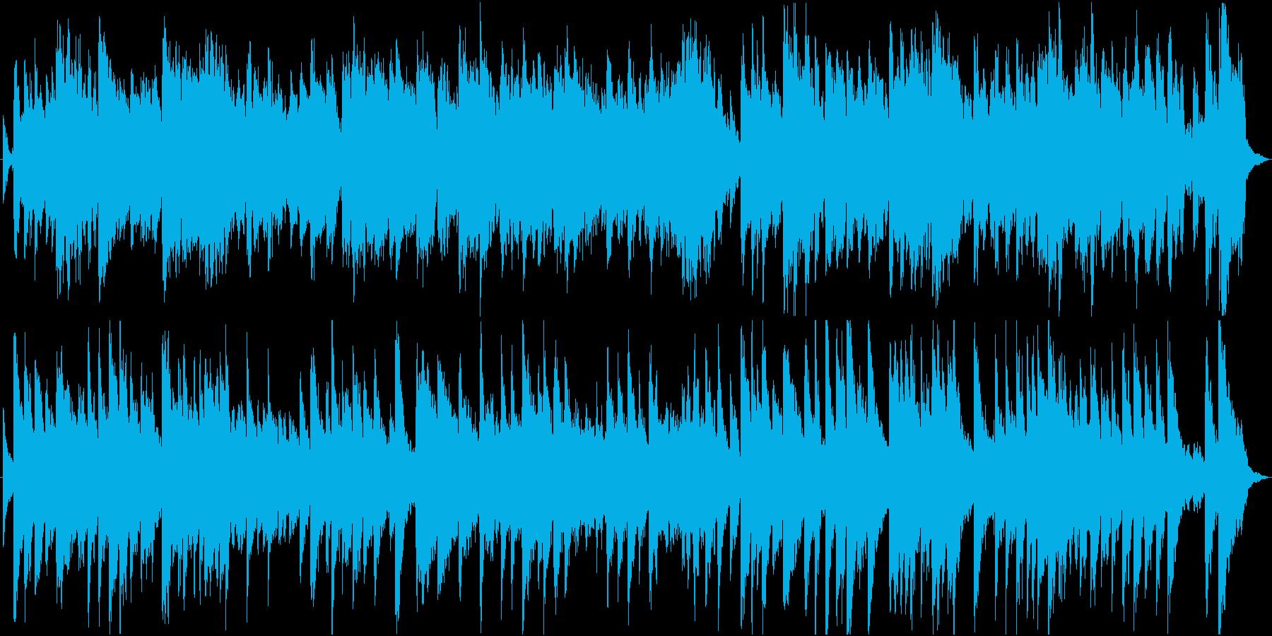 ヴァイオリンとピアノの美しい雰囲気の曲の再生済みの波形