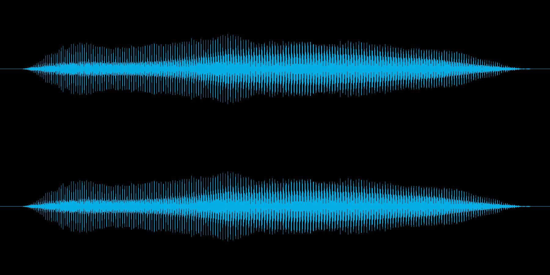 プ〜(オナラ)の再生済みの波形