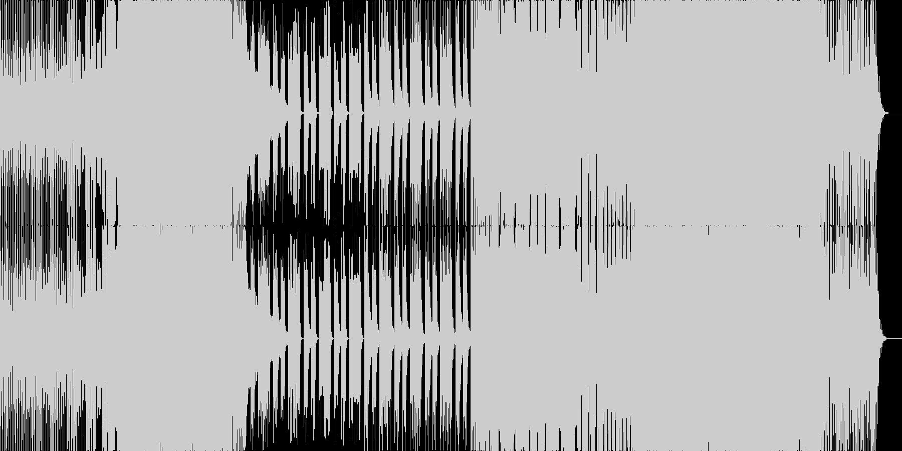 カワイイ爽やかポップなPOP EDMの未再生の波形