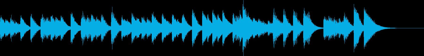 速い二拍子の可愛いらしいピアノジングルの再生済みの波形