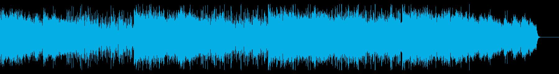 ダークなホラーテクスチャーの再生済みの波形
