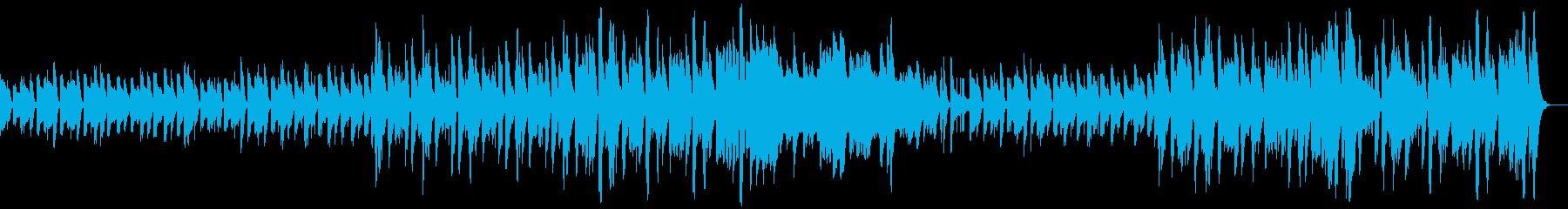 ピアノ、アコースティックベース、ス...の再生済みの波形