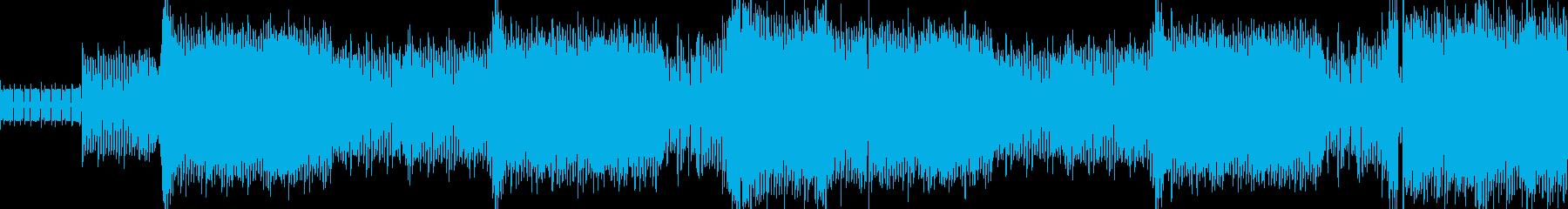 疾走感の爽やかでカッコいいEDMの再生済みの波形