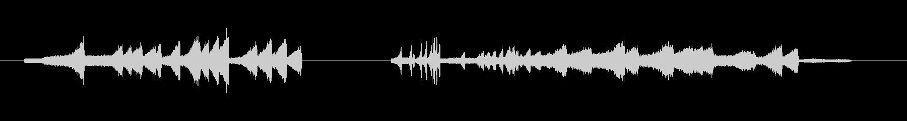 デジタル表示・メカ動作音・時間逆行#5の未再生の波形