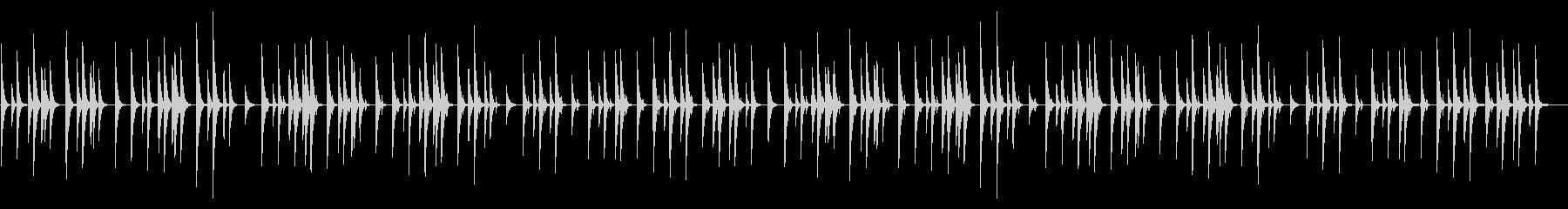 マレット楽器の素朴なイージーリスニングの未再生の波形