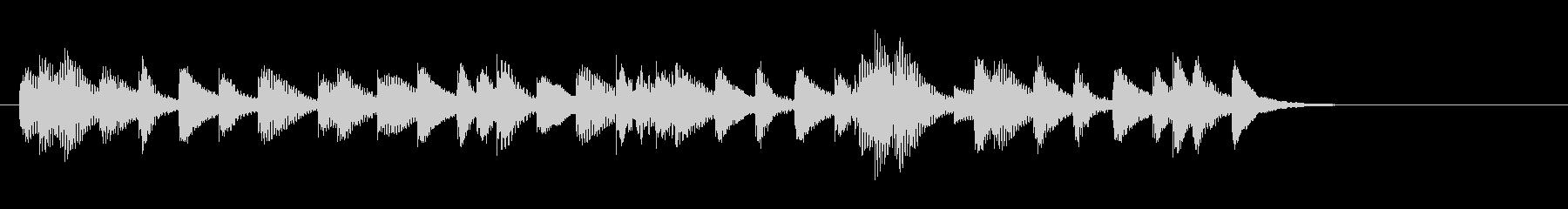 木琴のシンプルなジングル3の未再生の波形