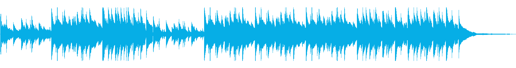 ピアノをテーマにした、ジャジーでム...の再生済みの波形