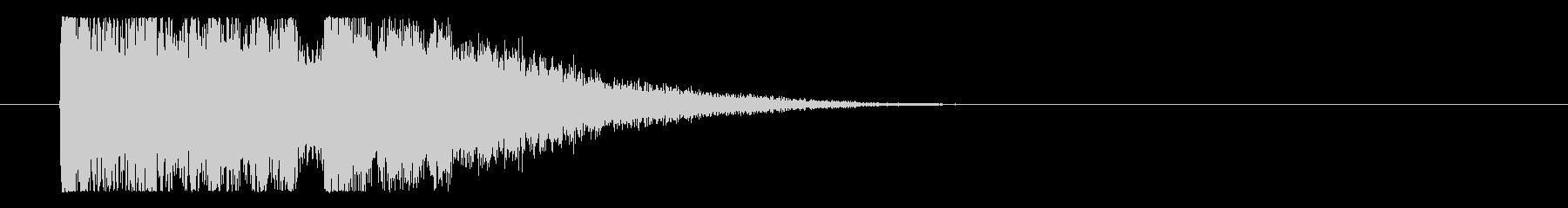 怪しくインパクトのあるサウンドロゴの未再生の波形