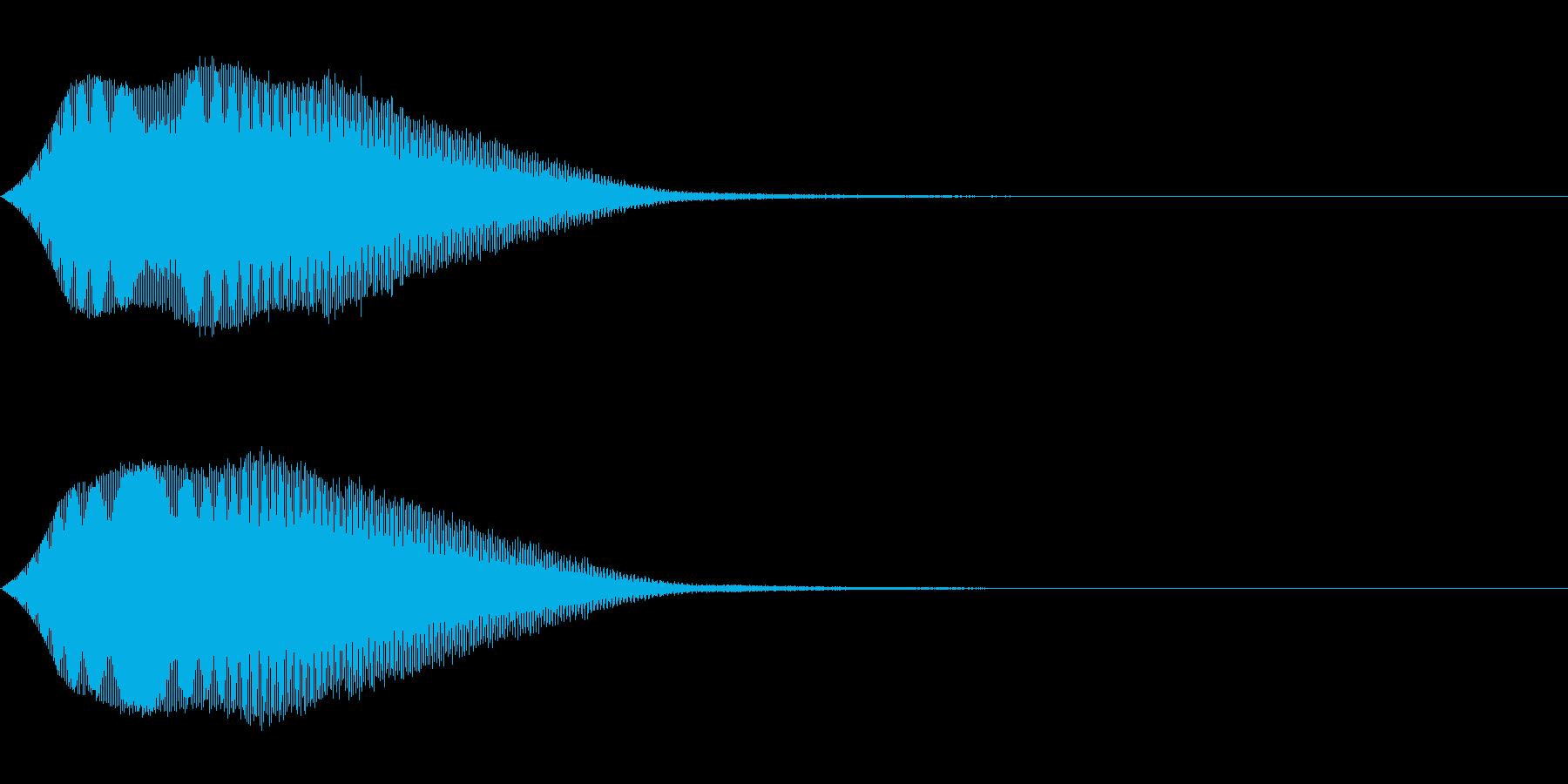 TVFX テレビ向けヒューン音 1の再生済みの波形