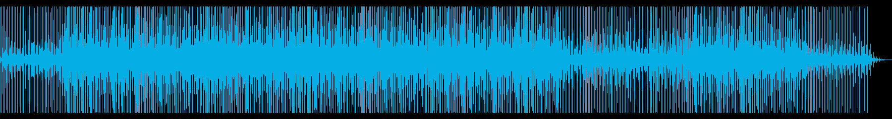 ニュース原稿読みBGM。ハウス/4つ打ちの再生済みの波形