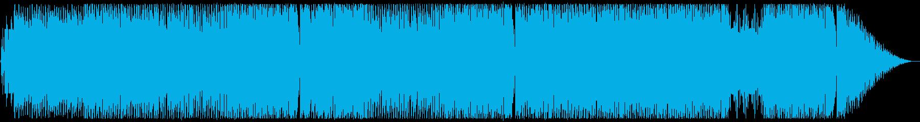 かっこいい疾走感のあるディープハウスの曲の再生済みの波形